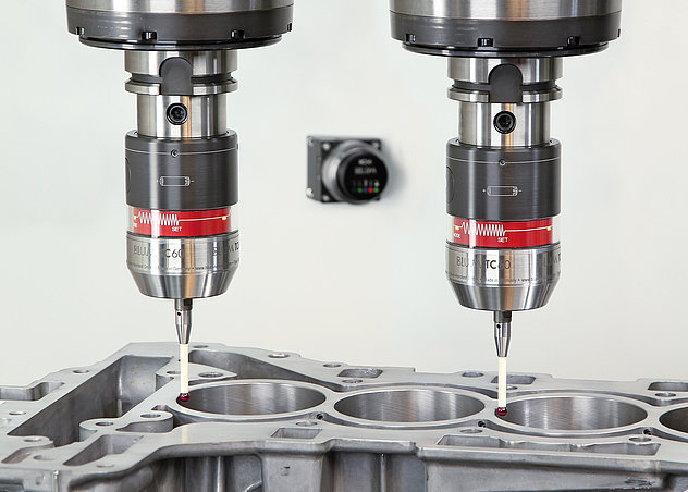 Simultaneous measurement on double-spindle machine with BLUM TC60 touch probe